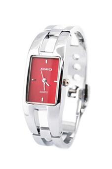 Kimio นาฬิกาสร้อยข้อมือแฟชั่นผู้หญิงสีแดง