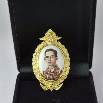 Pearl Jewelry เข็มกลัดในหลวง PK07 งานช่างไทย