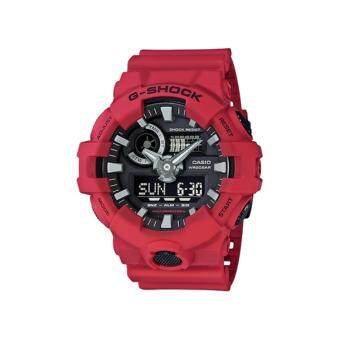 Casio G-Shock นาฬิกาข้อมือผู้ชาย สายเรซิ่น รุ่น GA-700-4A - สีแดง(Red)ประกันcmg