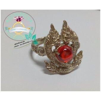 hindd แหวนพญานาคราช 2 เศียรคู่กันประดับเพชรพญานาค