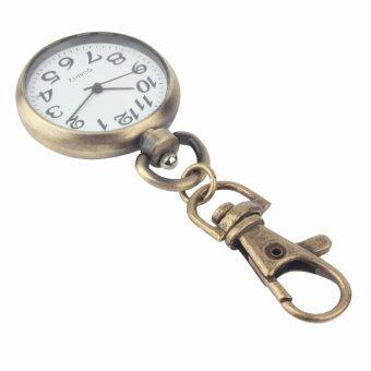เรโทรบรอนซ์ระบบควอตซ์นาฬิกาพวงกุญแจ (เงิน)