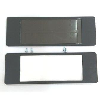 ป้ายทะเบียนกันน้ำ ยาว-ยาว license plate (สีดำ)