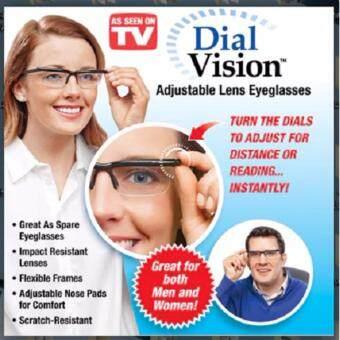VAUKO : แว่นตา/แว่นสายตา ปรับโฟกัส ปรับระยะเลนส์ ให้อ่านใกล้ หรือมองไกล โดยใช้แว่นอันเดียว รุ่น DIAL VISION-001 สีดำ