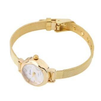 สาวน้อยแฟชั่นสตรีค่ะสาย ๆ นาฬิกาข้อมือแฟชั่นแต่งตัวคล้ายคลึงผลึก