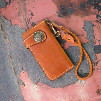 SN Collection กระเป๋าสตางค์หนังแท้ งานแฮนเมดเย็บมือแบบปราณีต สำหรับผู้ชายรุ่น NE008