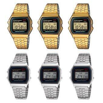 ขายส่ง Zazzy Dolls นาฬิกาข้อมือ สีทอง 3 ชิ้น สีเงิน 3 ชิ้น รุ่น ZD-0041 Unisex ใส่ได้ทั้งชายและหญิง ( 1 แพ็ค 6 ชิ้น)
