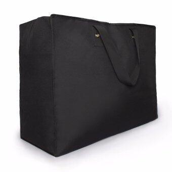 กระเป๋าเดินทาง พับได้ มีซิบเปิด-ปิด หูหิ้วแข็งแรง ใส่สัมภาระ ใส่อุปกรณ์กีฬา สิ่งของอเนกประสงค์ พร้อมหูหิ้ว สะดวก สีดำ Sun Lifestyle SL319