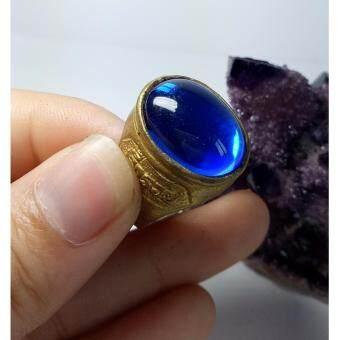phra mongpol แหวน.. เพชรพญานาค.. (สีน้ำเงิน) ตัวเรือน ทองเหลือง