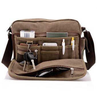 กระเป๋าผ้าคุณภาพสูงทั้งทางการท่องเที่ยวหลายฟังก์ชัน Bolsa Masculina ผู้ชายคนที่ส่งกระเป๋าสะพายกระเป๋า