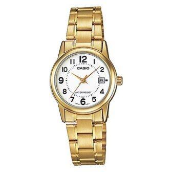 Casio Standard นาฬิกาข้อมือผู้หญิง สายสแตนเลส รุ่น LTP-V002G-7BUDF - สีทอง