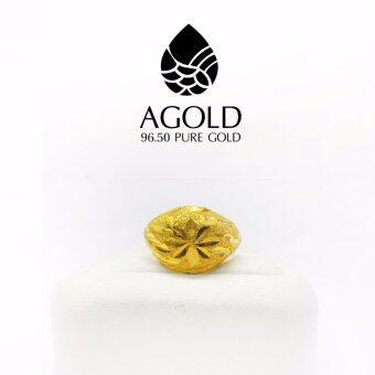 AGOLD ST08 แหวนลายโปร่งจิก ทองคำแท้ 96.5% น้ำหนัก ครึ่งสลึง ( 1.9 กรัม )