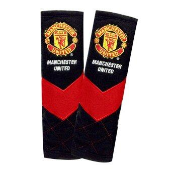 Manchester United นวมหุ้มเข็มขัดนิรภัย Man U Brave V (สีดำแดง) แพ็คคู่