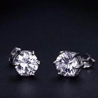 Minlane Jewellry ต่างหูเงิน เพชร CZ Design MJ 002