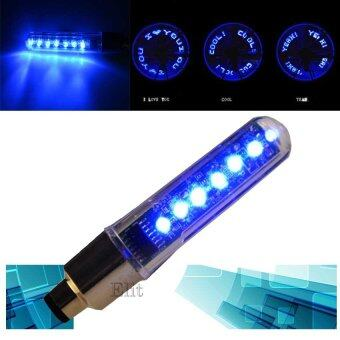 Elit จุกลมไฟ LED ตัวอักษร ติดล้อ จักรยาน มอเตอร์ไซด์ รถยนต์ LED Bike Bicycle Motorcycle Car Tire Wheel (Blue)