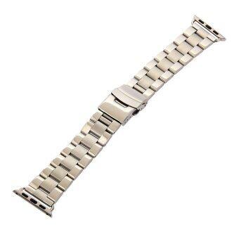 ลักเงินเหล็กรัดนาฬิกา Staniless+อะแดปเตอร์สำหรับ 38มม Apple Watch iWatch