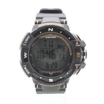 Submariner นาฬิกาข้อมือชาย สายยาง ระบบ (Digital) - S0020 (Black)