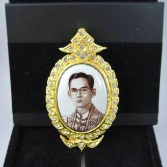 Pearl Jewelry เข็มกลัดในหลวง PK10 งานช่างไทย
