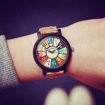 KPshop นาฬิกาผู้หญิงสายหนัง นาฬิกาข้อมือแฟชั่น นาฬิกาสำหรับผู้หญิง รุ่น LC-016 (สีน้ำตาลอ่อน)