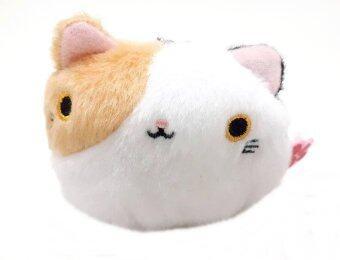 Tanko neko plush keychain พวงกุญแจ แมวถุงถั่ว แมวสามสี