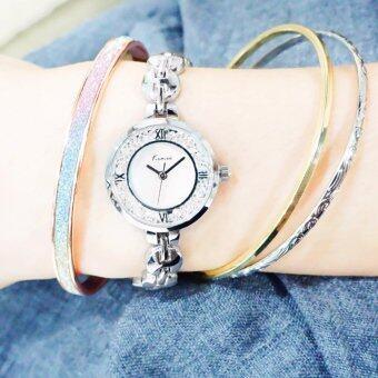 Kimio ชุดคู่นาฬิกาพร้อมกำไลข้อมือ ซื้อ 1 แถม 1 รุ่น KW6032S ฟรีกำไลข้อมือ(คละแบบ) รุ่น BG-B0010 นาฬิกาพร้อมกำไลข้อมือ นาฬิกาผู้หญิง สร้อยข้อมือ สไตล์เกาหลี