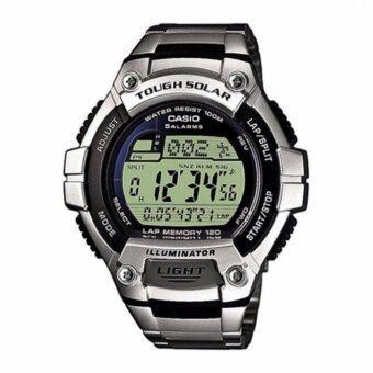 นาฬิกาข้อมือ Casio Men's WS220D-1AV Silver Stainless-Steel