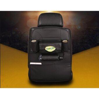YHL พรีเมียม ที่แขวนใส่ของหลังเบาะรถ ที่ใส่ของในรถเอนกประสงค์กระเป๋าใส่สัมภาระอเนกประสงค์ด้านหลังเบาะ ที่แขวนใส่ของอเนกประสงค์หลังเบาะรถยนต์ (สีดำ)