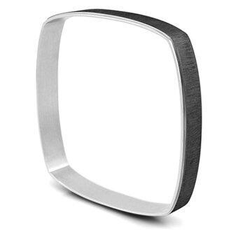 555jewelry กำไลข้อมือสำหรับสุภาพสตรี กำไลทรงสี่เหลี่ยม รุ่น MNC-BG047-D - Black