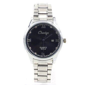 Sevenlight นาฬิกาข้อมือผู้ชาย ระบบวันที่ - GP9232 (Silver/ Black)