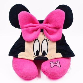 Disney หมอนรองคอ Minnie แบบมี Hood