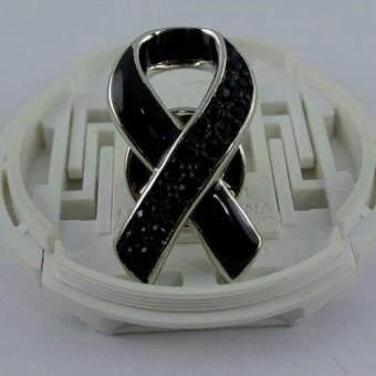 Pearl Jewelry เข็มกลัดไว้อาลัย สวารอฟสกี้ พลอยดำ DIY09