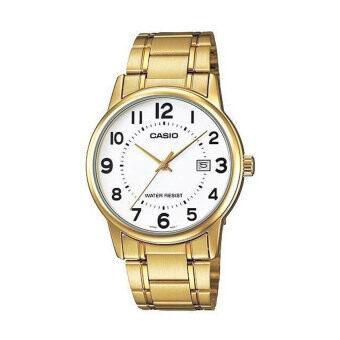 Casio นาฬิกาข้อมือผู้ชาย รุ่น MTP-V002G-7BUDF (สีทอง)