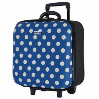 Wheal กระเป๋าเดินทางหน้านูน กระเป๋าล้อลาก 16x16 นิ้ว Code F33516 B-Dot (Cerulean)