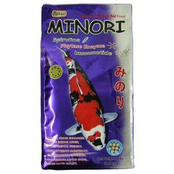 MINORI อาหารปลาคาร์พเกรดพรีเมี่ยม - สูตรเสริมเอนไซม์ไฟเตส - เม็ดใหญ่ ขนาด 1.8 กก.