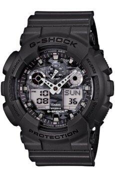 Casio G-shock นาฬิกาข้อมือผู้ชาย สีดำ สายเรซิ่น รุ่น GA-100CF-8ADR