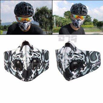 DTG Dust Mask หน้ากากมอเตอร์ไซค์ จักรยาน กันฝุ่นและมลพิษ (สีขาว/ดำ) จำนวน 1 ชุด
