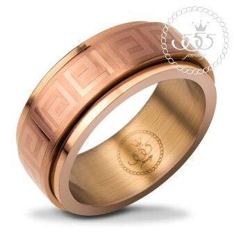 555jewelry แหวนสวยดีไซน์เรียบ สี กาแฟ รุ่น SNRN80-COFFEE - แหวนเรียบ แหวนผู้หญิง สแตนเลสสตีล (R36)