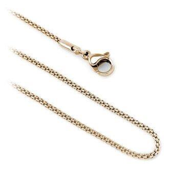 555jewelry สร้อยคอโซ่ถักกลม รุ่น MNC-C004-C (สี Pink Gold)