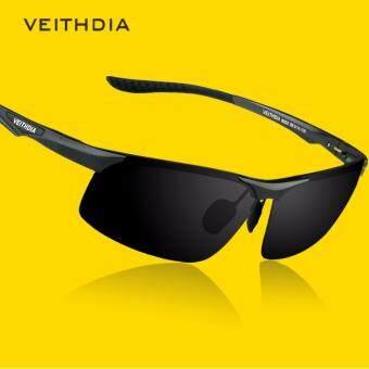นำเสนอ VEITHDIA 6502 หนุ่มแว่นกันแดดโพลาไรซ์สีดำกรอบสีเทาเลนส์ สินค้ายอดนิยม