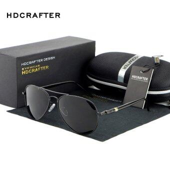 Harga HDCRAFTER Hot sell classic fashion Men's Polarized sunglasses(Black) - intl