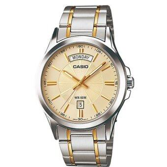 CASIO Gent quartz นาฬิกาข้อมือสุภาพบุรุษ Silver Stainless Strap รุ่น MTP-1381G-9AVDF