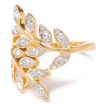 W-Jewelry แหวนประดับคริสตัล Austria รุ่น R0181(สีทอง)