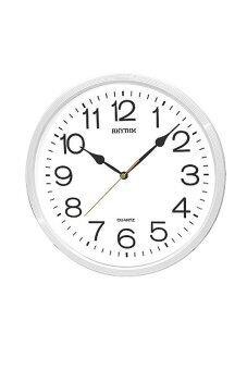 RHYTHM นาฬิกาแขวน รุ่น CMG734-NR03 (สีขาว)