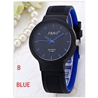 แฟชั่นสตรีแบรนด์สีสันวุ้นซิลิโคนนาฬิกาข้อมือควอทซ์สบาย ๆ คู่รัก - นานาชาติ