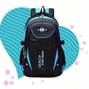Children Boys Student Waterproof Backpack School Bookbag Rucksack Shoulder Bag Blue (image 1)
