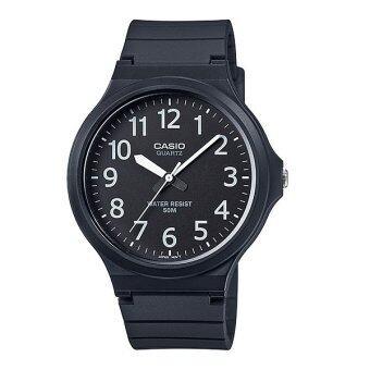 Casio Standard นาฬิกาข้อมือผู้ชาย สายเรซิ่น MW-240-1BV