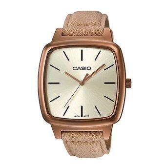 Casio Standard นาฬิกาข้อมือผู้หญิง สายหนัง รุ่น LTP-E117RL-9ADF (Pinkgold)