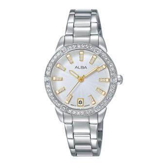 Alba นาฬิกาข้อมือผู้หญิง สายสแตนเลส รุ่น AG8H07X1 (สีเงิน)