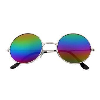 หญิงอ้อคนต้านแสงหลากสีกระจกแว่นตาเลนส์แว่นกันแดดวินเทจ ๆ