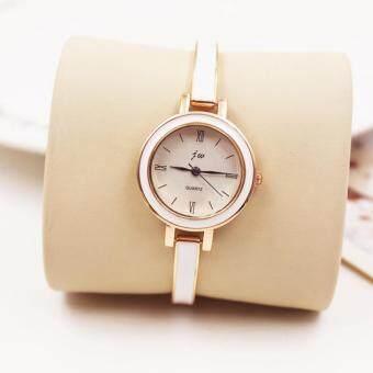 KPshop นาฬิกาผู้หญิงสายหนัง นาฬิกาข้อมือแฟชั่น นาฬิกาสวยๆของผู้หญิง รุ่น LC-001 (สีขาว)