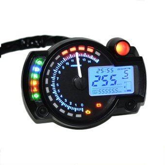 โอ้ 15000 อาร์พีเอ็มดิจิตอลวัดความเร็วแสงจอรถจักรยานยนต์ระยะทางเครื่องวัดวามเร็ว